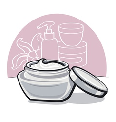 Moisturizing cream vector