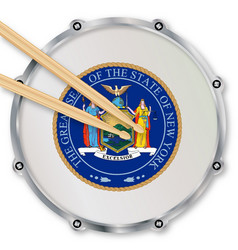 New york state snare drum vector
