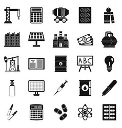 outlay icons set simple style vector image
