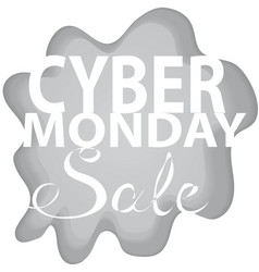 Paper cut cyber monday sale sign and background vector