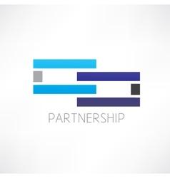 Partnership abstraction icon vector