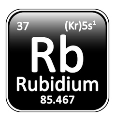 Periodic table element rybidium icon vector image