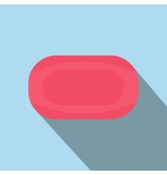 Pink soap flat vector image