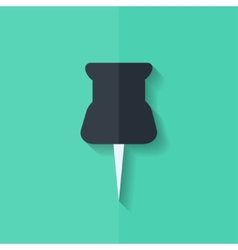 Pushpin web icon Flat design vector