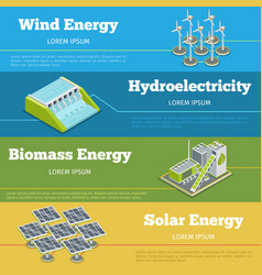Renewable energy or eco infographics concept vector image