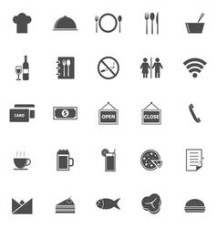 Restaurant icons on white background vector