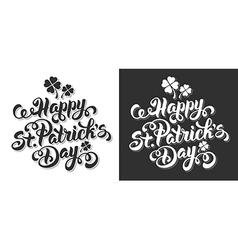 Saint Patrick lettering set vector
