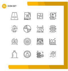Set 16 modern ui icons symbols signs for vector