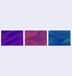 set modern colorful abstract gradient wavy vector image