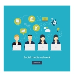 Social network and teamwork concept for web and vector image