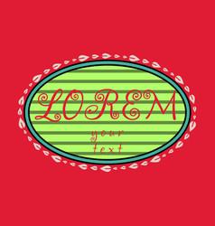 spring background typography vintage label in vector image