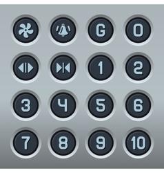 Steel Elevator Buttons Panel Set vector