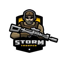Storm trooper mascot logo desing vector