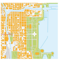 Street map of downtown chicago illinois vector