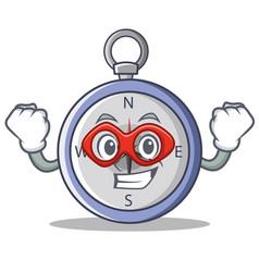Super hero compass character cartoon style vector