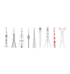 Telecommunication towers equipment with antenna vector