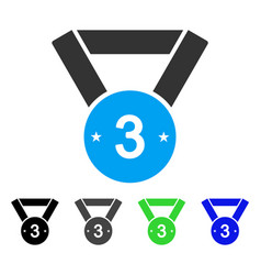 Third medal flat icon vector