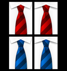 tie red blue background vector image