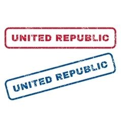 United Republic Rubber Stamps vector image