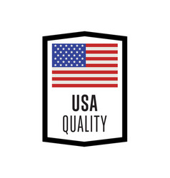 usa quality isolated label for products vector image