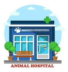 Veterinary medicine or hospital for animals vector