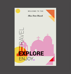 Welcome to the blue dom church slovakia explore vector