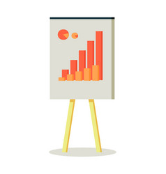 Whiteboard with infographics vector