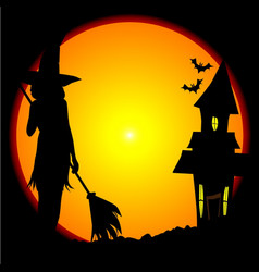 Witches house vector