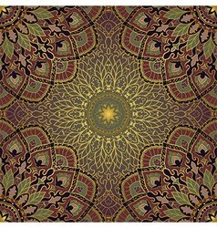 Gold pattern of mandalas vector image