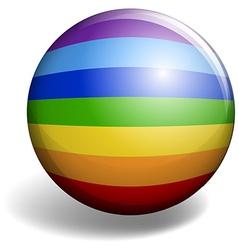 Rainbow design on round badge vector image vector image