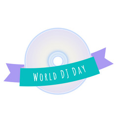 world dj day vector image