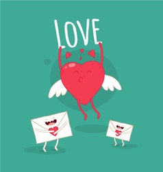 Card Valentine Day vector image