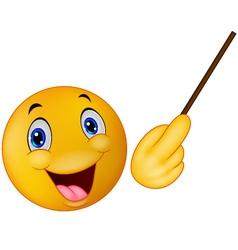 Emoticon smiley doing presentation vector image vector image