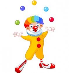 juggling clown vector image vector image