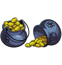 leprechauns pots of gold vector image