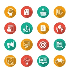Marketers Flat Icons Set vector image vector image