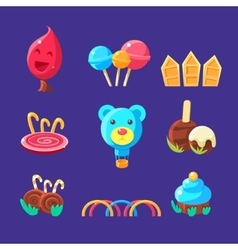 Plants And Landscape Elements Made Of Sweets vector image vector image