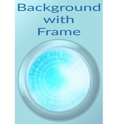 Porthole with Abstract Background vector image
