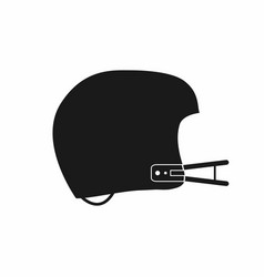 american football helmet icon simple monochrome vector image vector image