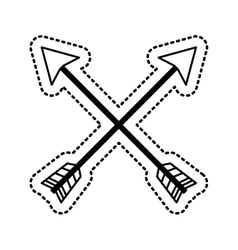 arrow drawing isolated icon vector image vector image
