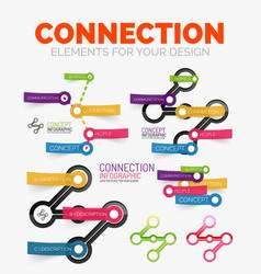 diagram elements set of connection concept vector image vector image