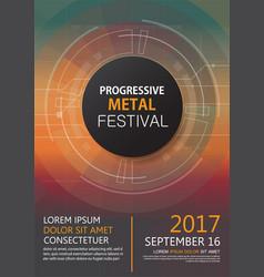 progressive metal festival concert invitation vector image