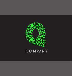 q letter bubble green logo icon design vector image