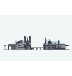 Rome skyline silhouette vector image