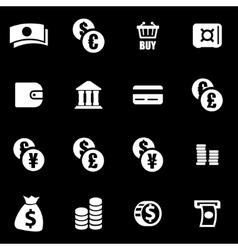 white money icon set vector image vector image