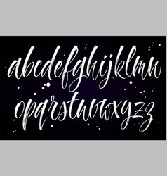 alphabet brush lettering vector image vector image