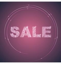 Illuminated purple sale label vector