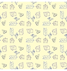 Seamless pattern on the topic of education vector image vector image