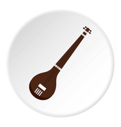 traditional indian sarod icon circle vector image