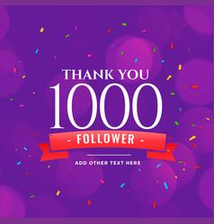 1000 followers social media celebration vector